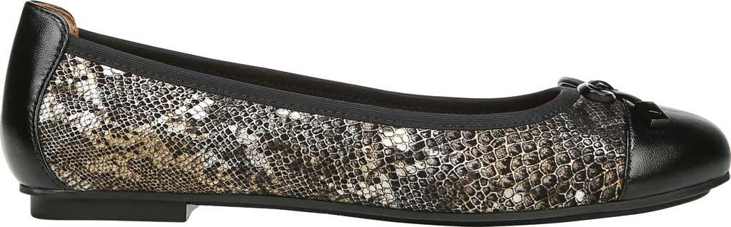 Women's Vionic Minna Ballet Flat, Pewter Boa Metallic/Nubuck Leather, large, image 2