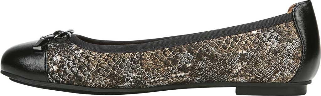 Women's Vionic Minna Ballet Flat, Pewter Boa Metallic/Nubuck Leather, large, image 3