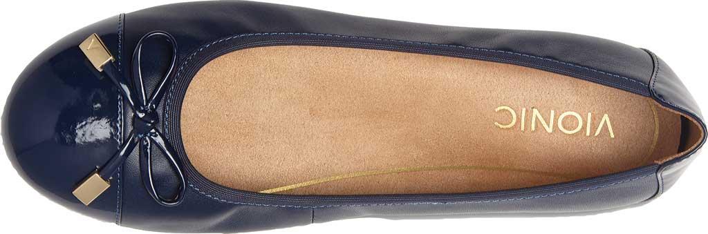 Women's Vionic Minna Ballet Flat, Navy Leather, large, image 4