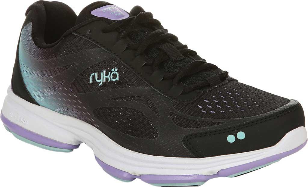 Women's Ryka Devotion Plus 2 Walking Shoe, Black/Purple, large, image 1