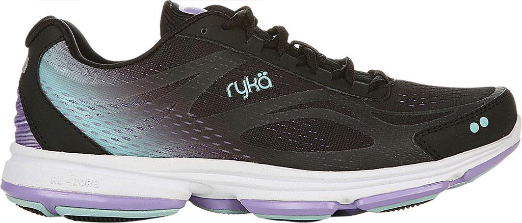 Women's Ryka Devotion Plus 2 Walking Shoe, Black/Purple, large, image 2