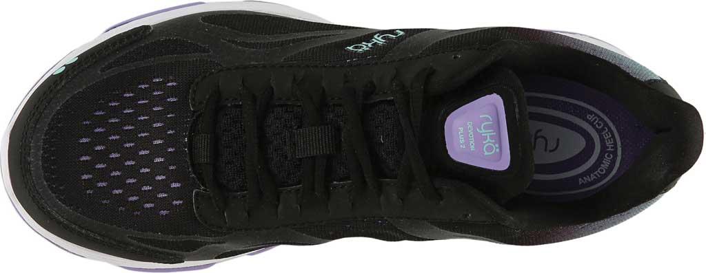 Women's Ryka Devotion Plus 2 Walking Shoe, Black/Purple, large, image 5