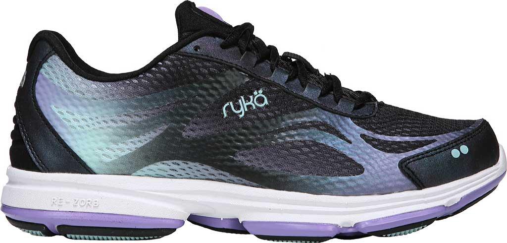 Women's Ryka Devotion Plus 2 Walking Shoe, Black/Purple Ice/Eggshell Blue, large, image 2