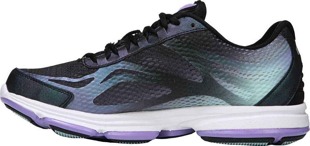 Women's Ryka Devotion Plus 2 Walking Shoe, Black/Purple Ice/Eggshell Blue, large, image 3