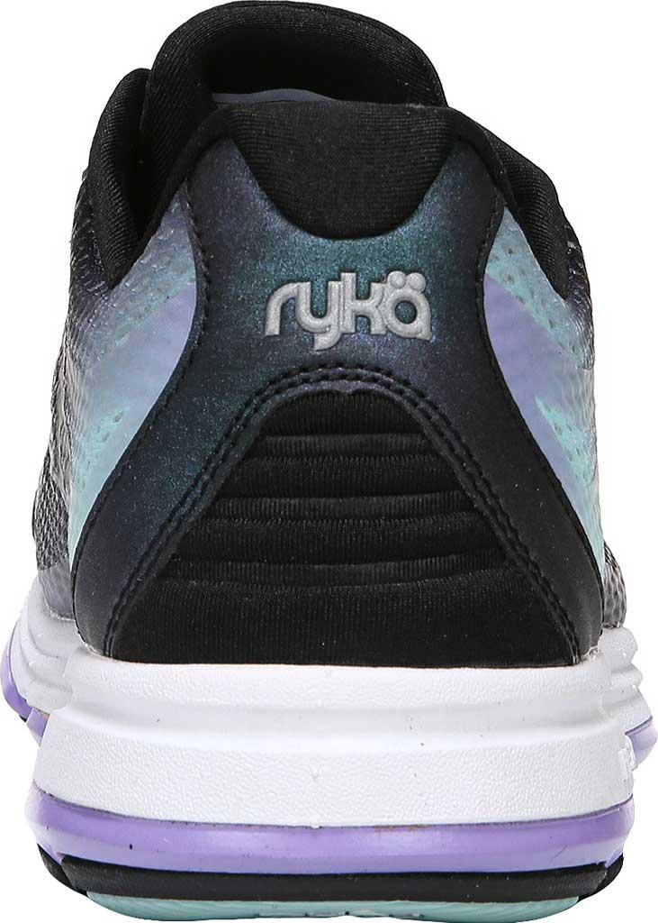 Women's Ryka Devotion Plus 2 Walking Shoe, Black/Purple Ice/Eggshell Blue, large, image 4