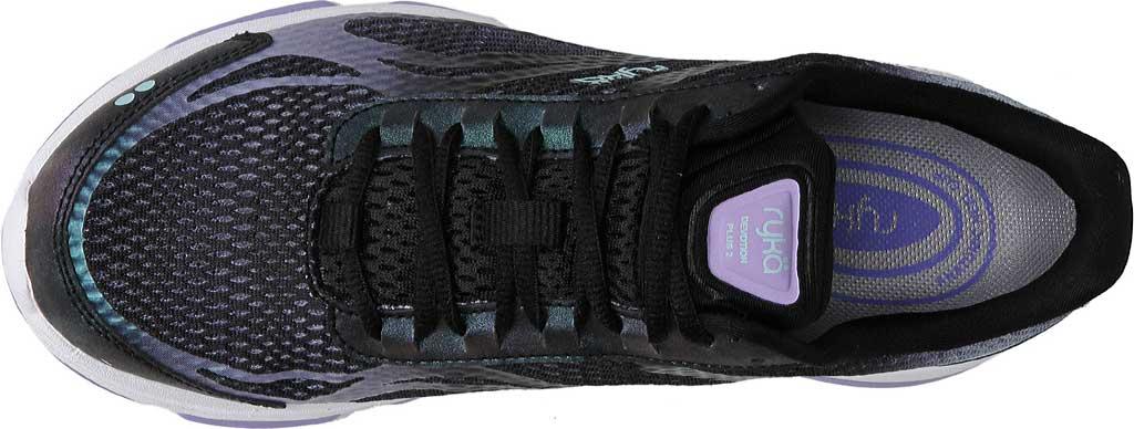 Women's Ryka Devotion Plus 2 Walking Shoe, Black/Purple Ice/Eggshell Blue, large, image 5