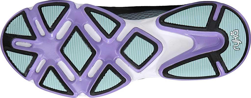 Women's Ryka Devotion Plus 2 Walking Shoe, Black/Purple Ice/Eggshell Blue, large, image 6