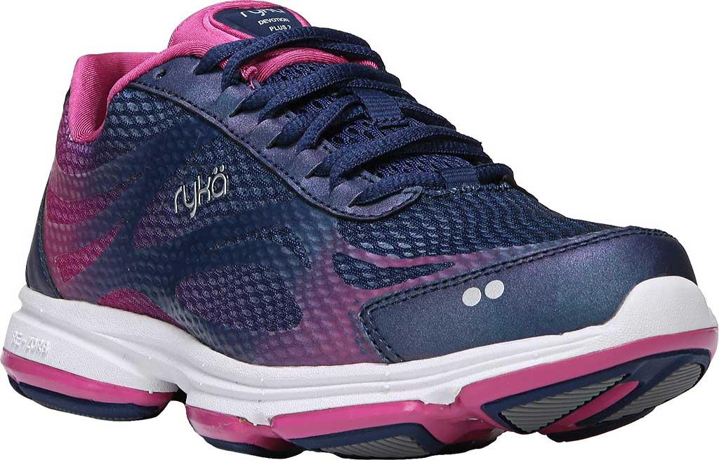 Women's Ryka Devotion Plus 2 Walking Shoe, Jet Ink Blue/Rose Violet/Chrome Silver, large, image 1