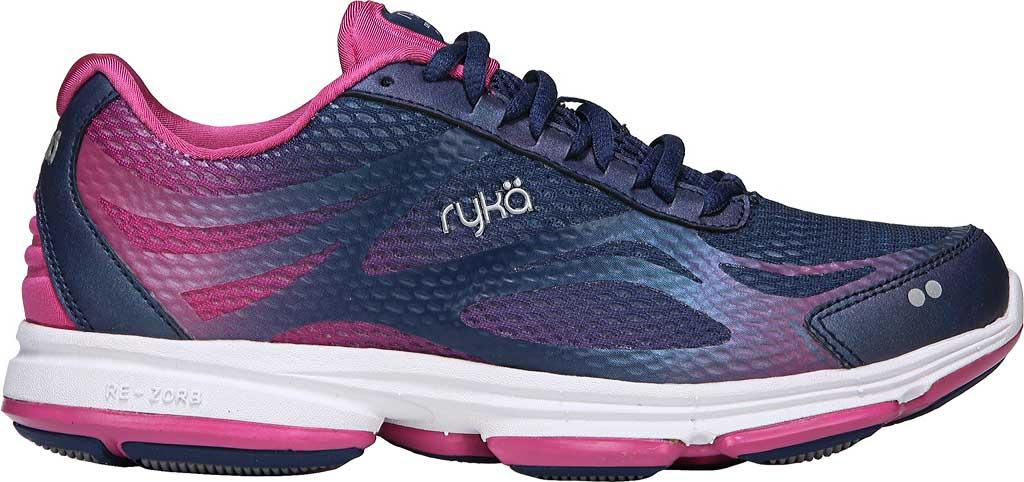 Women's Ryka Devotion Plus 2 Walking Shoe, Jet Ink Blue/Rose Violet/Chrome Silver, large, image 2