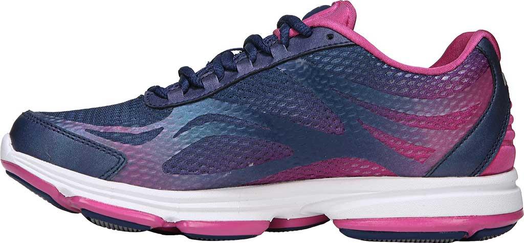 Women's Ryka Devotion Plus 2 Walking Shoe, Jet Ink Blue/Rose Violet/Chrome Silver, large, image 3