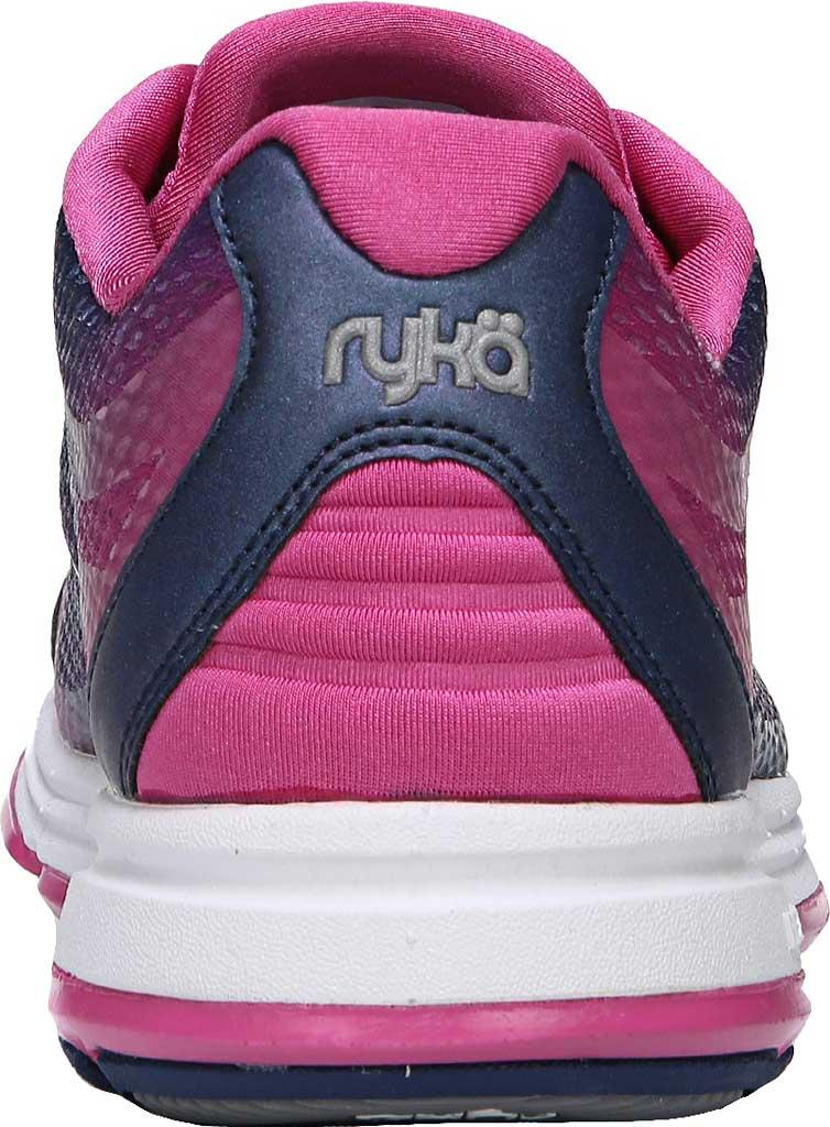 Women's Ryka Devotion Plus 2 Walking Shoe, Jet Ink Blue/Rose Violet/Chrome Silver, large, image 4