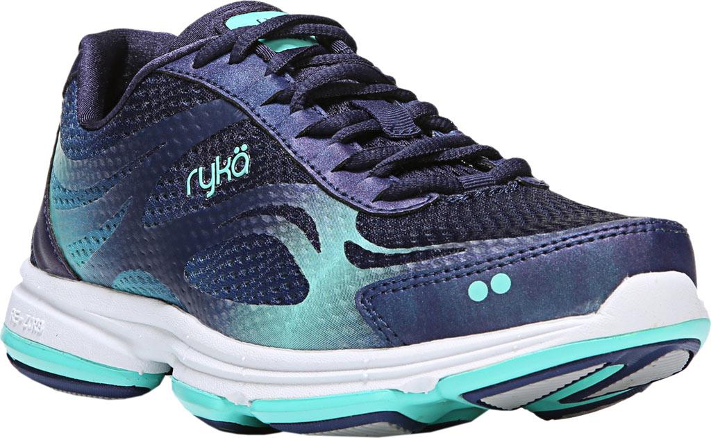 Women's Ryka Devotion Plus 2 Walking Shoe, Navy/Teal Mesh, large, image 1