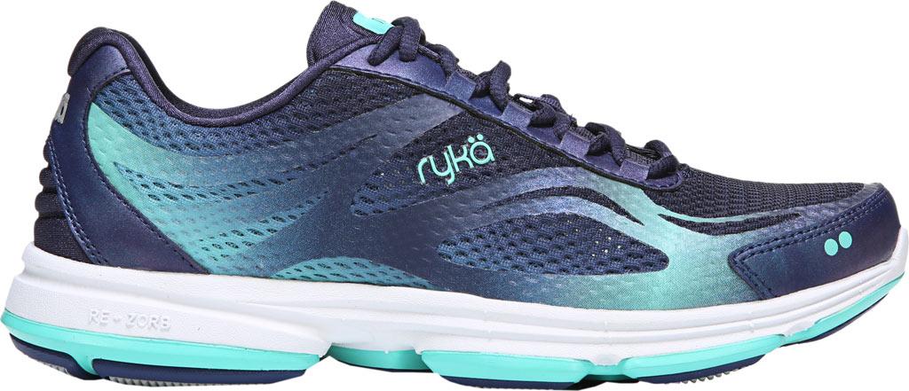 Women's Ryka Devotion Plus 2 Walking Shoe, Navy/Teal Mesh, large, image 2