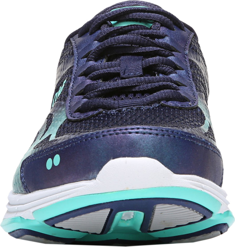 Women's Ryka Devotion Plus 2 Walking Shoe, Navy/Teal Mesh, large, image 4