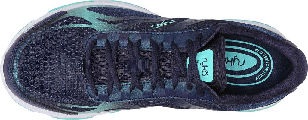Women's Ryka Devotion Plus 2 Walking Shoe, Navy/Teal Mesh, large, image 6