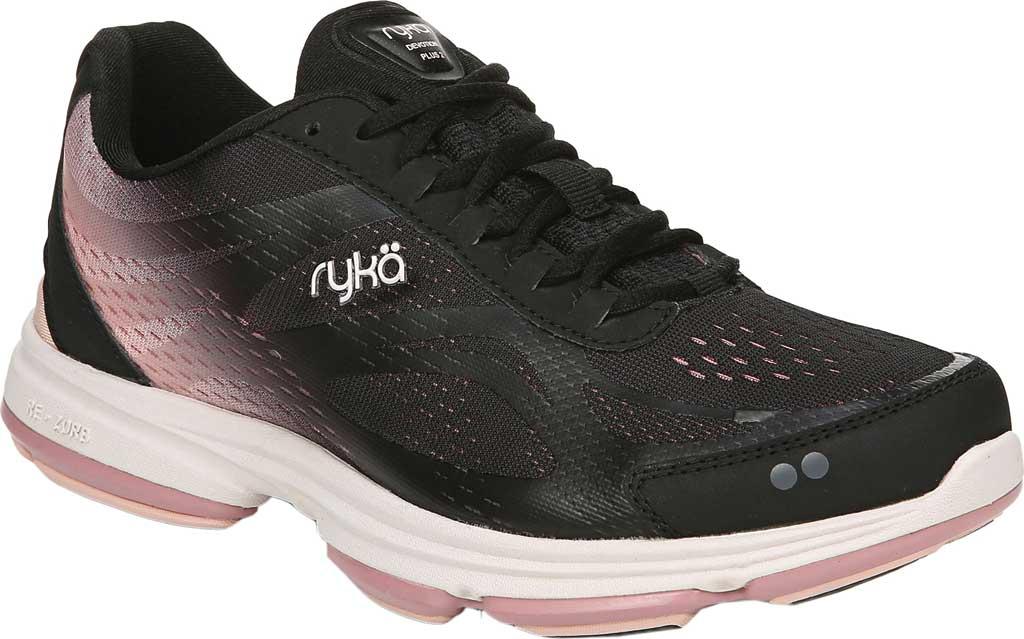 Women's Ryka Devotion Plus 2 Walking Shoe, Black/Rose, large, image 1
