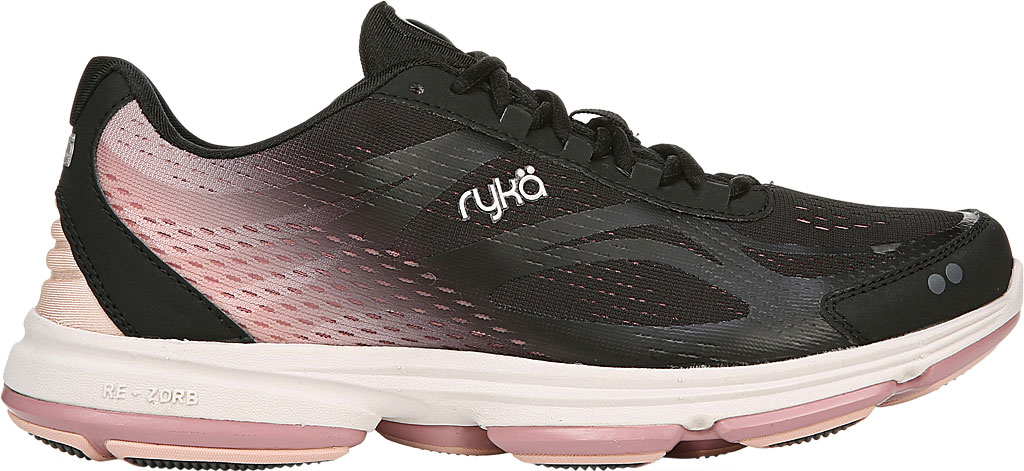 Women's Ryka Devotion Plus 2 Walking Shoe, Black/Rose, large, image 2