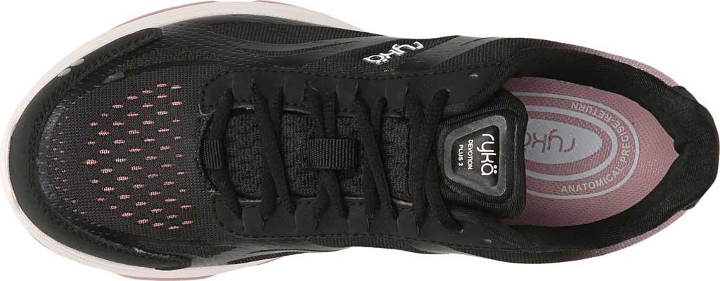 Women's Ryka Devotion Plus 2 Walking Shoe, Black/Rose, large, image 5