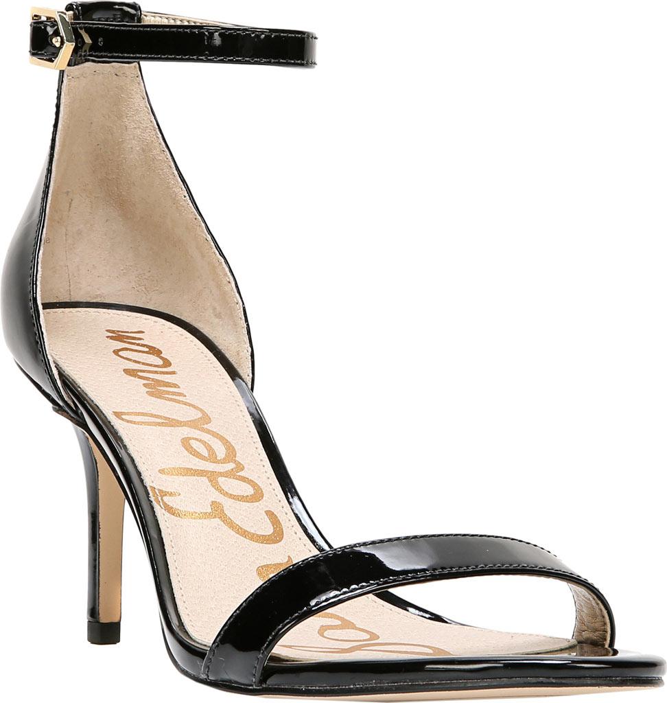 Women's Sam Edelman Patti Ankle Strap Sandal, Black Patent Synthetic, large, image 1