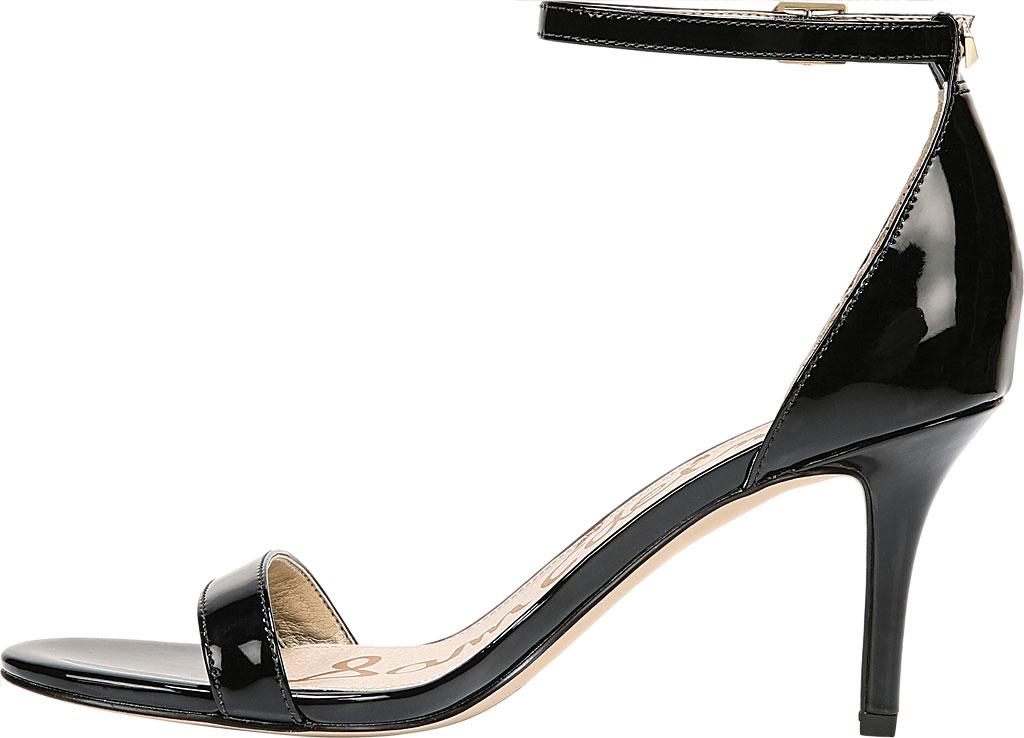 Women's Sam Edelman Patti Ankle Strap Sandal, Black Patent Synthetic, large, image 3
