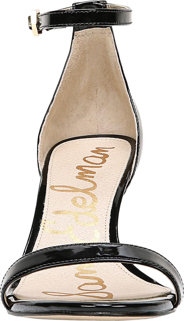 Women's Sam Edelman Patti Ankle Strap Sandal, Black Patent Synthetic, large, image 4