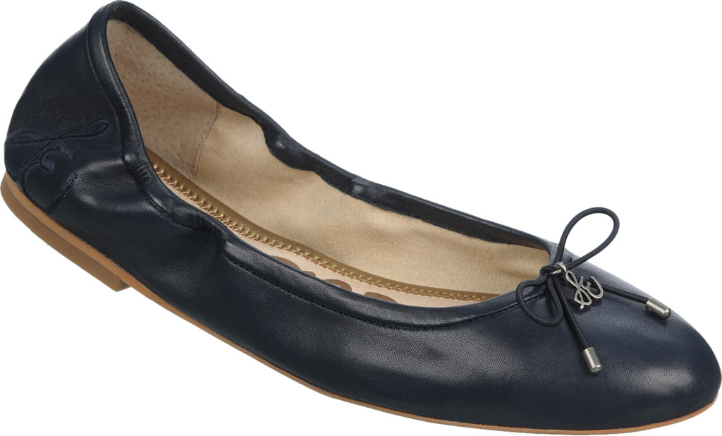 Women's Sam Edelman Felicia Ballet Flat, Navy Leather, large, image 1