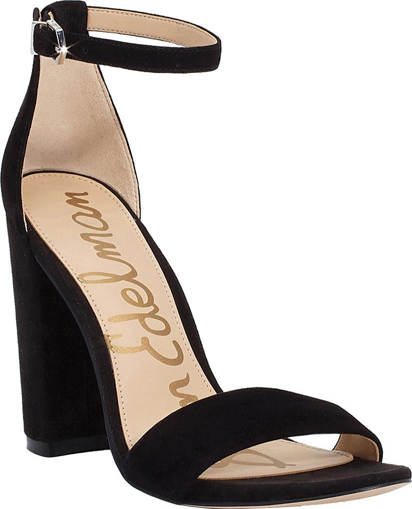 Women's Sam Edelman Yaro Ankle Strap Sandal, Black Kid Suede, large, image 1