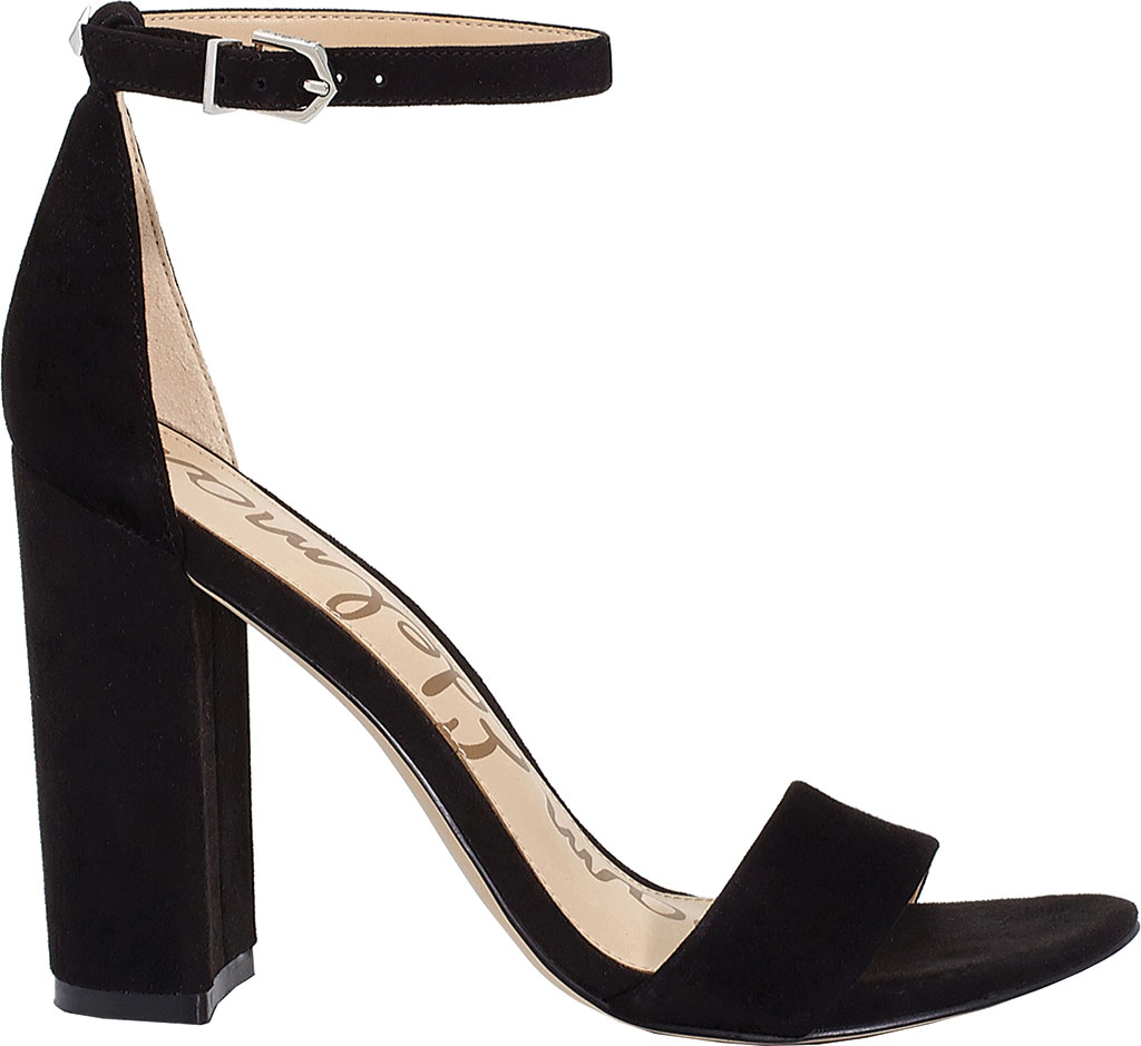 Women's Sam Edelman Yaro Ankle Strap Sandal, Black Kid Suede, large, image 2