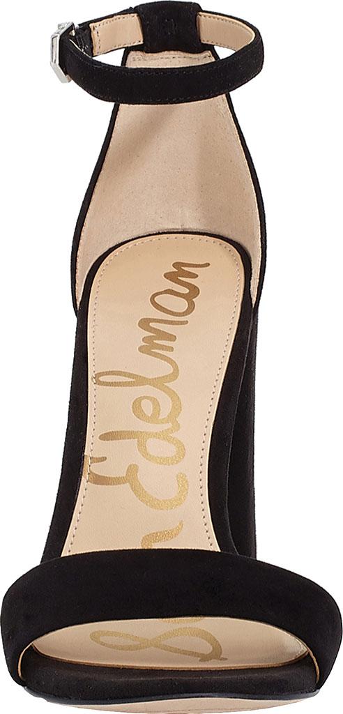 Women's Sam Edelman Yaro Ankle Strap Sandal, Black Kid Suede, large, image 4