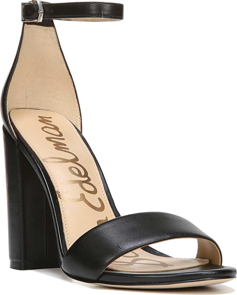 Women's Sam Edelman Yaro Ankle Strap Sandal, Black Leather, large, image 1