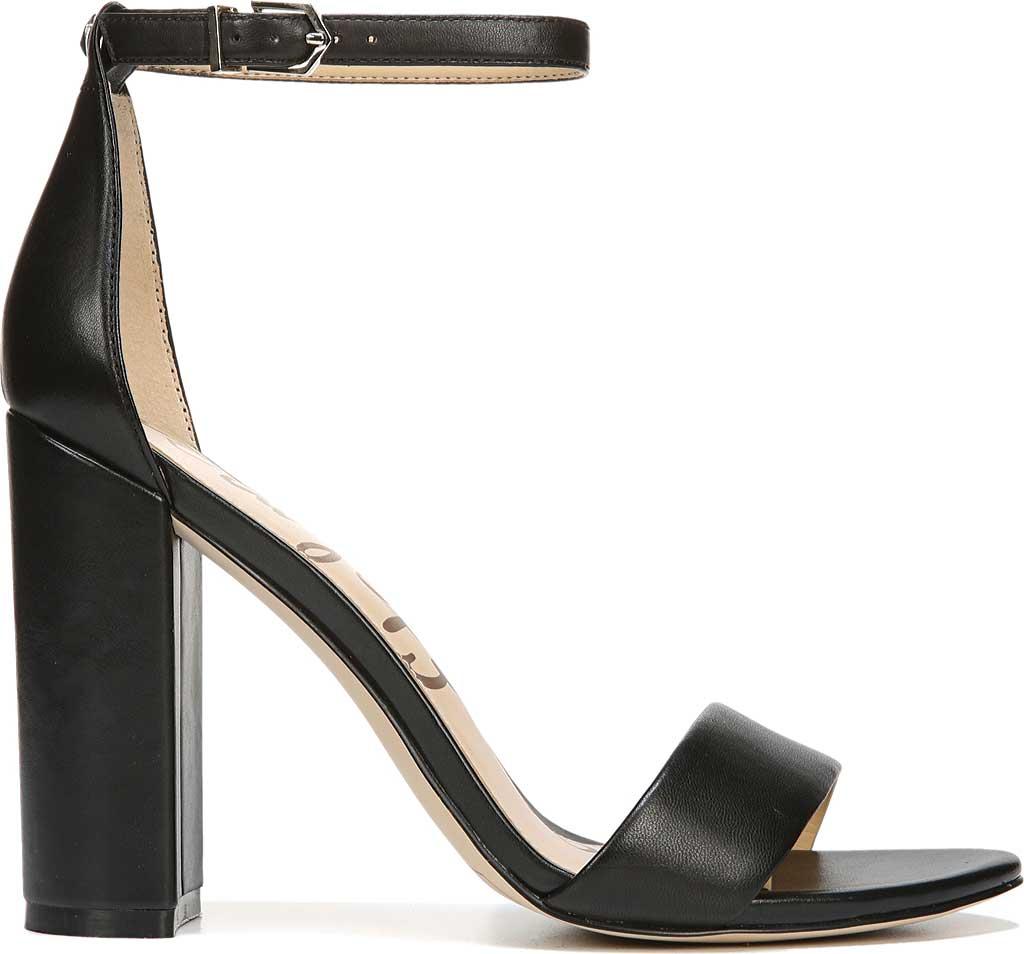 Women's Sam Edelman Yaro Ankle Strap Sandal, Black Leather, large, image 2