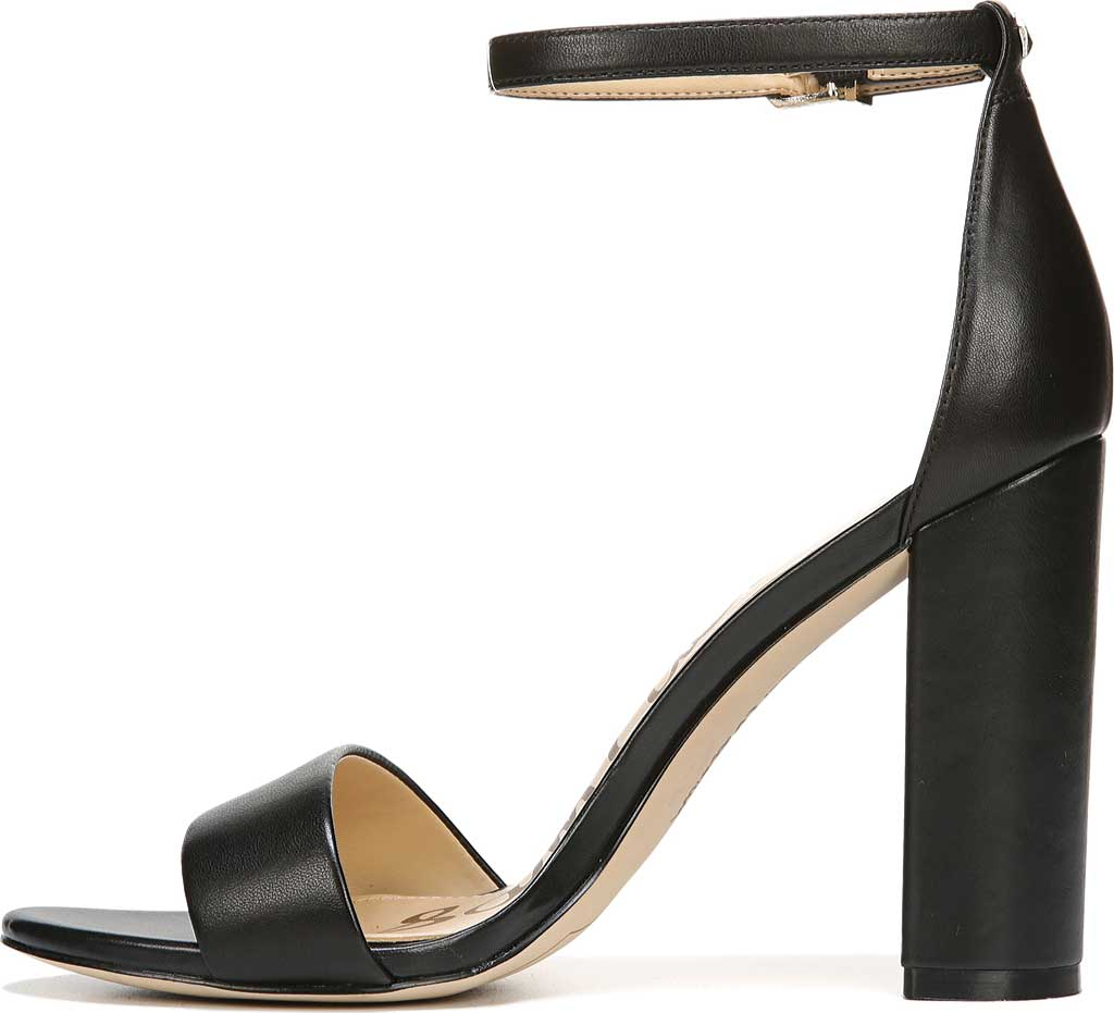 Women's Sam Edelman Yaro Ankle Strap Sandal, Black Leather, large, image 3