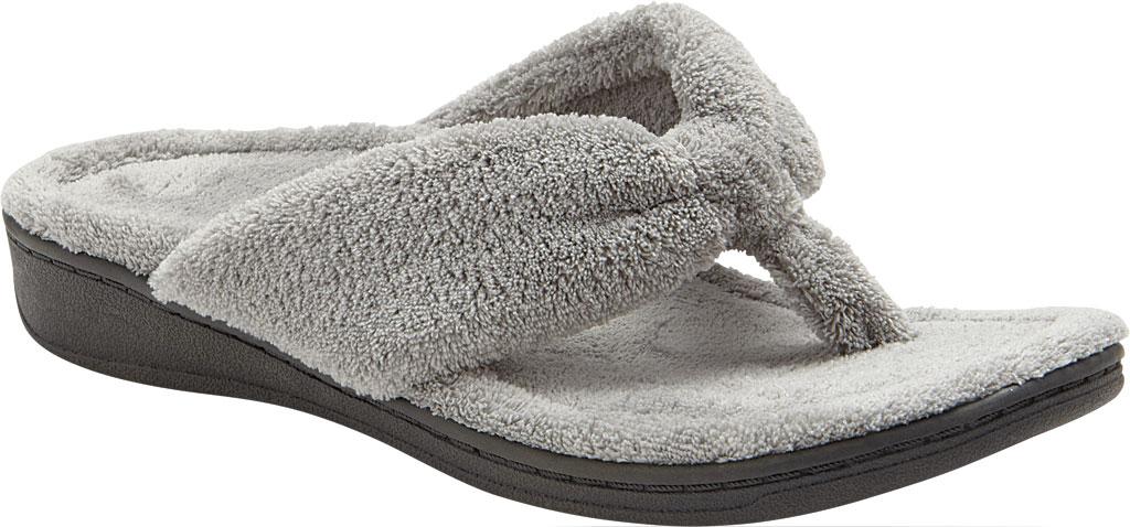 Women's Vionic Gracie Thong Slipper, Light Grey Textile, large, image 1