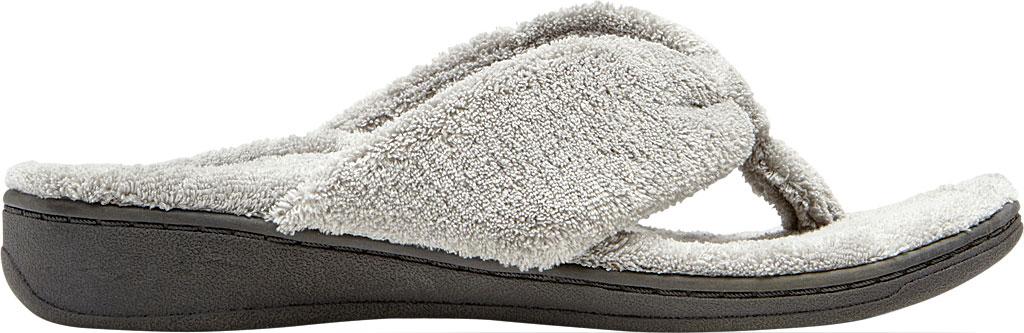 Women's Vionic Gracie Thong Slipper, Light Grey Textile, large, image 2