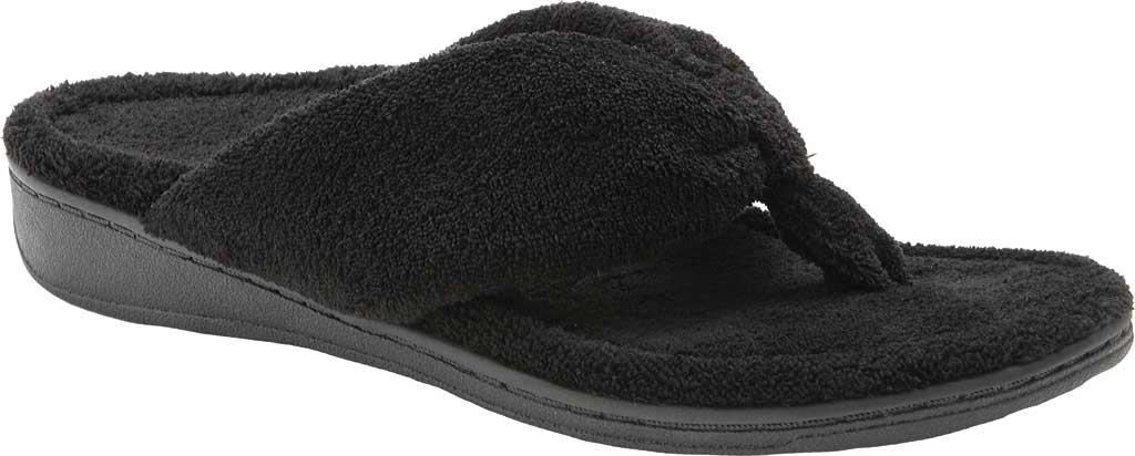 Women's Vionic Gracie Thong Slipper, Black Textile, large, image 1
