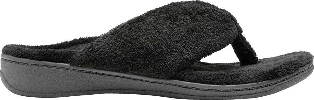 Women's Vionic Gracie Thong Slipper, Black Textile, large, image 2