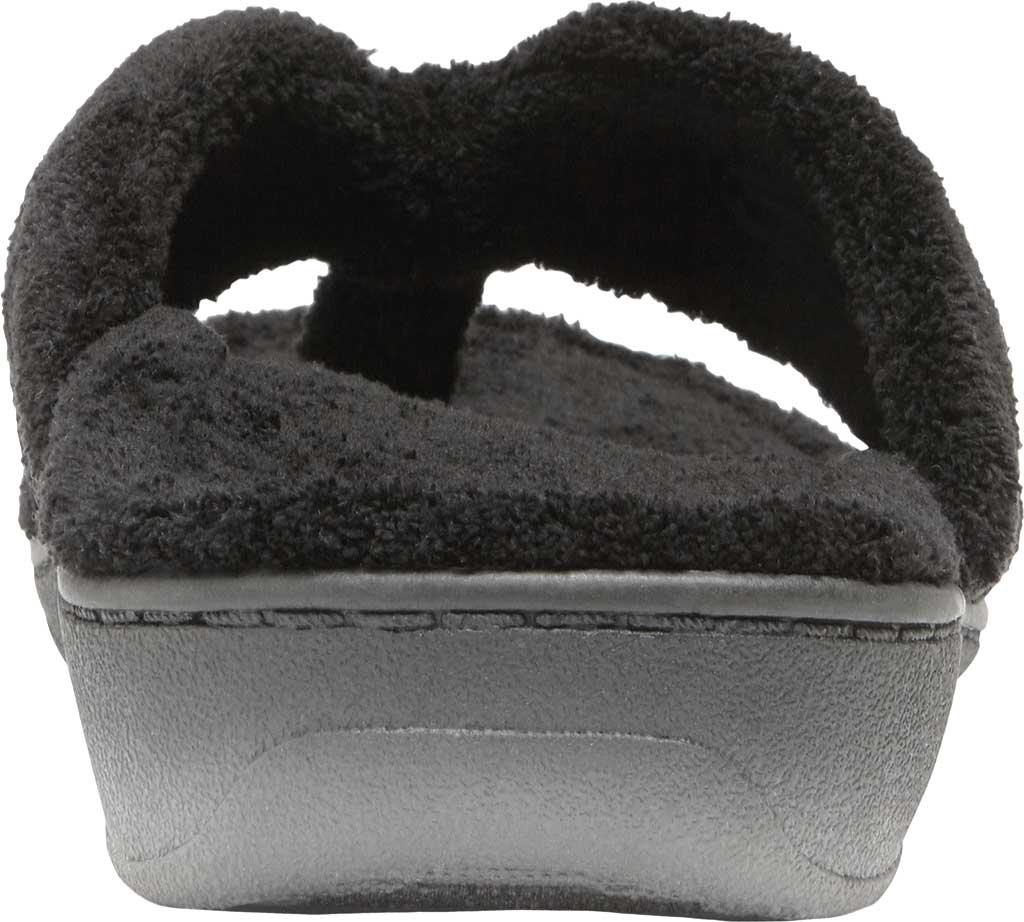 Women's Vionic Gracie Thong Slipper, Black Textile, large, image 4
