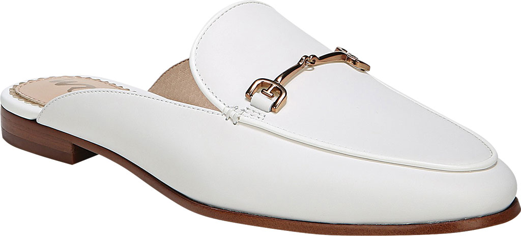 Women's Sam Edelman Linnie Loafer Mule, Bright White Dress Nappa Leather, large, image 1