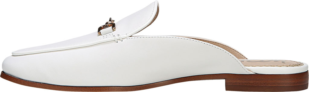 Women's Sam Edelman Linnie Loafer Mule, Bright White Dress Nappa Leather, large, image 3