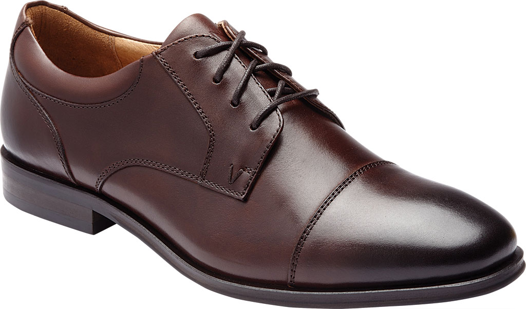 Men's Vionic Shane Oxford, Dark Brown Leather, large, image 1