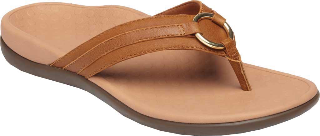 Women's Vionic Tide Aloe Thong Sandal, Mocha Leather, large, image 1
