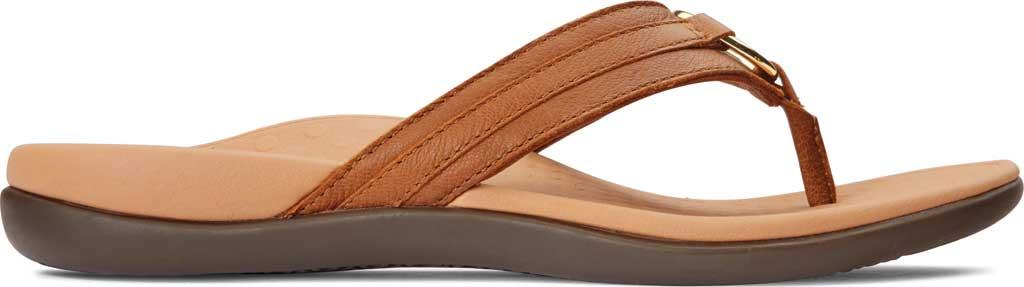 Women's Vionic Tide Aloe Thong Sandal, Mocha Leather, large, image 2