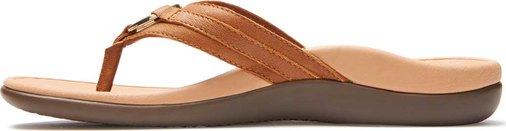 Women's Vionic Tide Aloe Thong Sandal, Mocha Leather, large, image 3