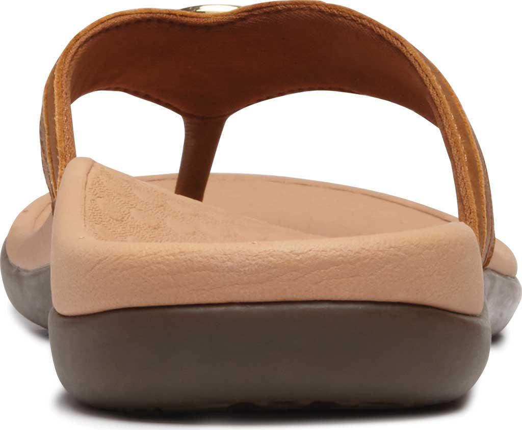 Women's Vionic Tide Aloe Thong Sandal, Mocha Leather, large, image 4