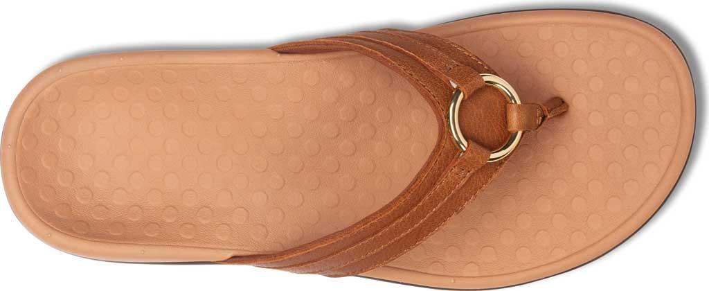 Women's Vionic Tide Aloe Thong Sandal, Mocha Leather, large, image 5