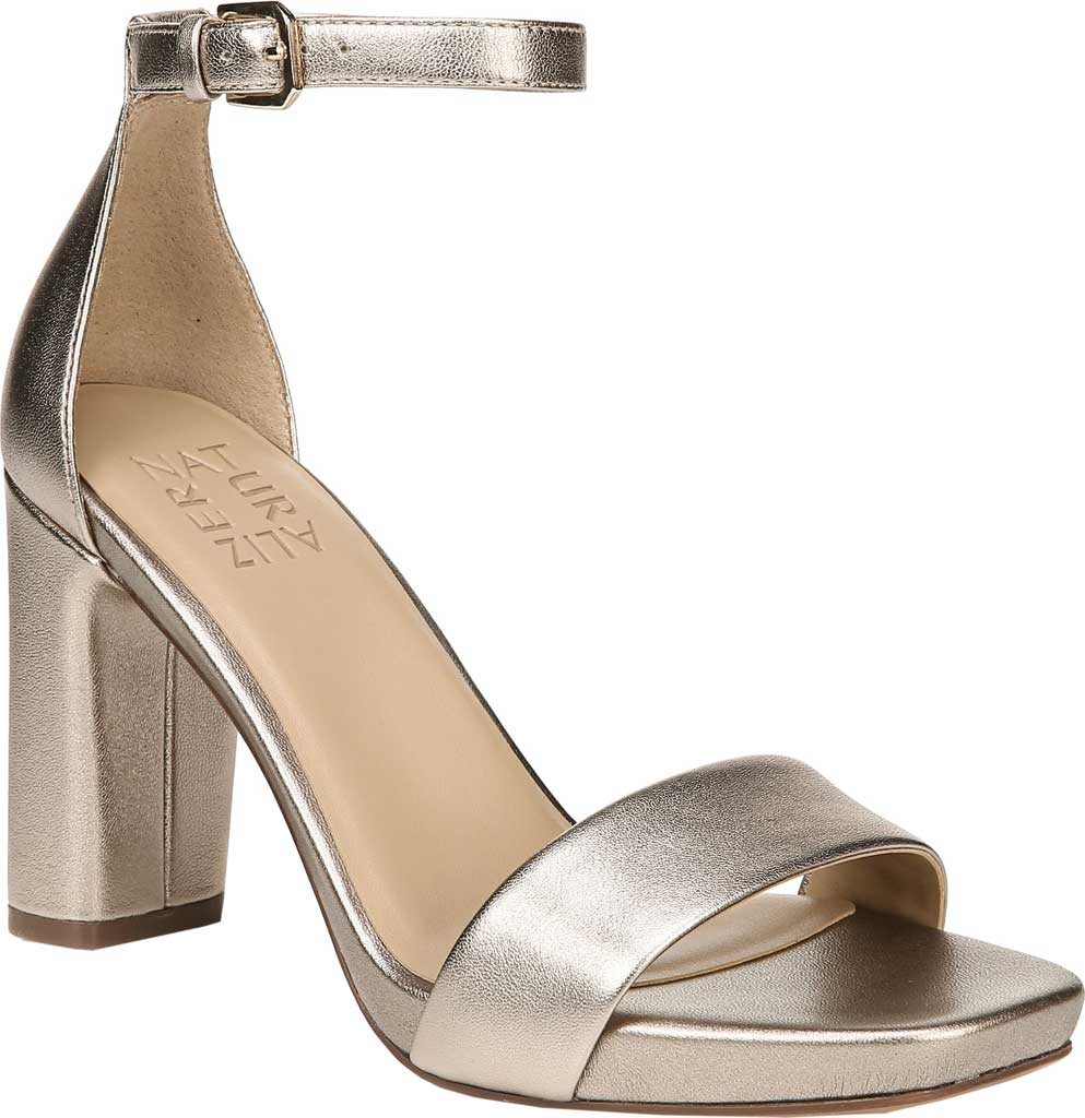 Women's Naturalizer Joy Ankle Strap Sandal, Light Bronze Leather, large, image 1