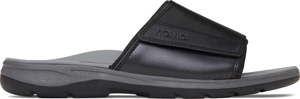 Men's Vionic Stanley Slide, Black Full Grain Leather, large, image 2