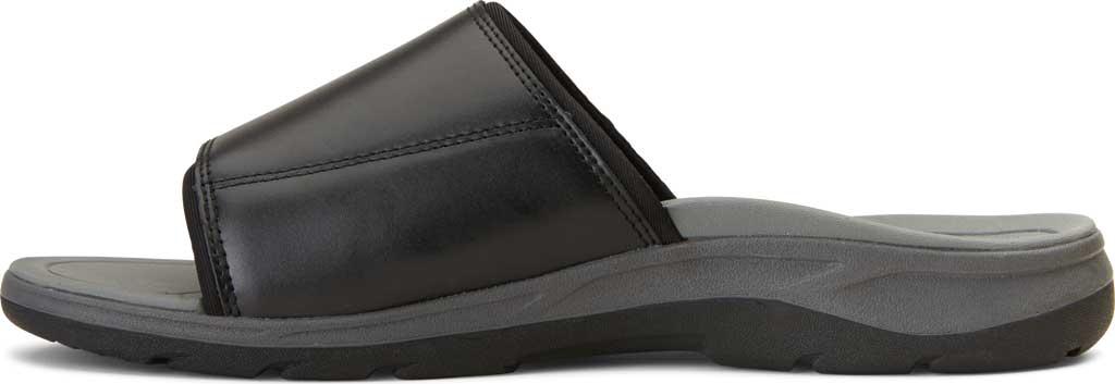 Men's Vionic Stanley Slide, Black Full Grain Leather, large, image 3