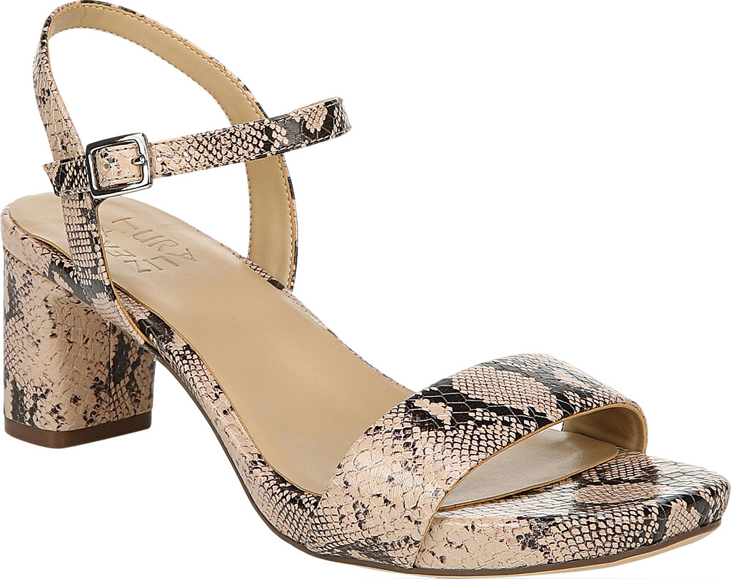 Women's Naturalizer Ivy Ankle Strap Sandal, Barely Nude Snake Leather, large, image 1