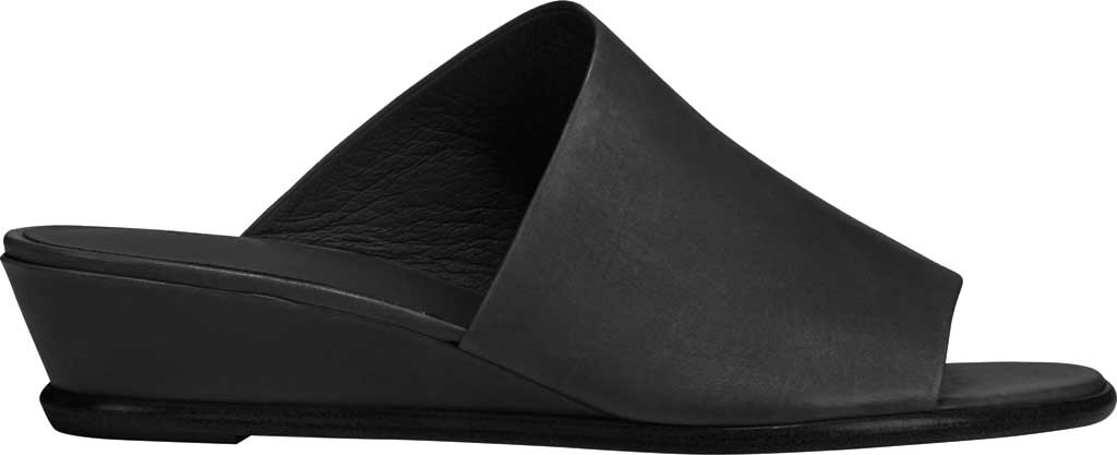 Women's Vince Duvall Wedge Leather Sandal, Black Memory Leather, large, image 2
